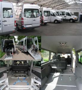 Rollstuhlgerechte Kleinbusse zum Mieten